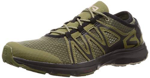 Salomon Homme Chaussures de Randonnée, CROSSAMPHIBIAN SWIFT 2, Couleur: Vert (Burnt Olive/Black/Vintage Kaki), Pointure: EU 44 2/3