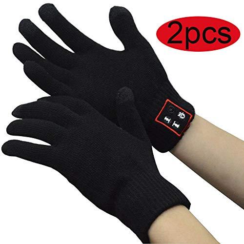 ZBHGF V5.0 Bluetooth-handschoenen, draadloze handschoenen, voor winter, touchscreen, met ingebouwde luidsprekers, microfoon, voor sport en giften buiten, voor Kerstmis