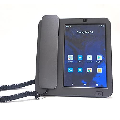 ELKeyko Teléfono inalámbrico 2021 4G LTE Android 10 Fija inalámbrica/Cordless Desktop teléfono con V Olte, WiFi, BT y Punto DE Acceso WiFi Móvil Línea Fija sin Cable