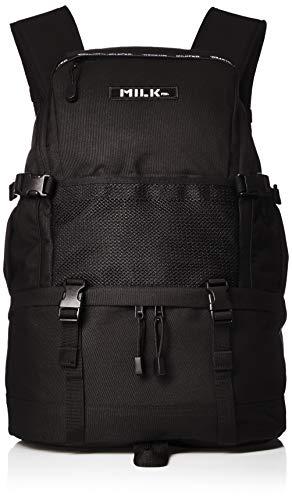 [ミルクフェド] LOGO LINED MESH POCKET BACKPACK 03191016 BLACK One Size