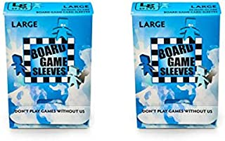 Arcane Tinmen Large Non-Glare Board Game Card Sleeves – 59mm x 92mm – Bundle of 2 – 100 Sleeves Total
