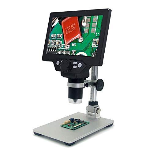 Elikliv 1200X Digitale Microscoop, 12 MP 7 Inch Groot Kleur Scherm LCD Display 1-1200X Continue Versterking Vergrootglas