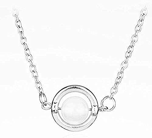 Yiffshunl Collar Collar de película de Moda Que rodea el Collar de Piedra Lunar Bella con Collares Pendientes con Perla Blanca para Mujer, joyería de Fiesta