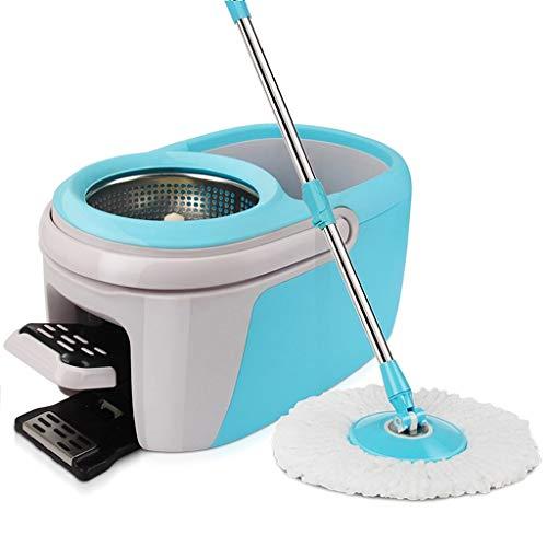 Fregonas Spinning Mop Mop Bucket Set Herramientas de Limpieza del hogar multifunción Dry Mop Bucket Productos y Utensilios de Limpieza (Color : Blue, Size : 58 * 28.5 * 26cm)