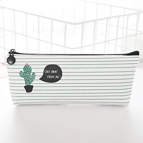Estuche escolar para lápices de cactus de gran capacidad para estudiantes con cremallera, para escuela, oficina, artículos de papelería de regalo (color de cactus)