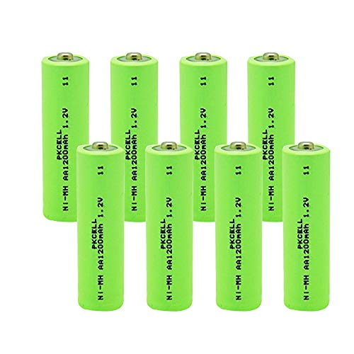 Nimh AA Rechargeable Battery with Button Top for Solar Garden Lights (10PC)