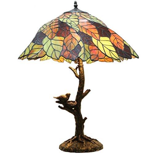 HHJJ Tiffany Lámpara Estilo de Cristal Lámparas de Mesa Pulgadas para Mesa de café Sala de Estar Escritorio Antiguo Al Lado del Dormitorio Lámpara-22932C3D0O