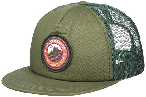 Helly-Hansen Unisex HH Flatbrim 5 Panel Trucker Cap, 390 Jungle Green, Einheitsgröße