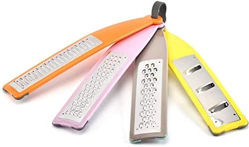 Rallador de queso, cortador/rallador de verduras de acero inoxidable, juego de 4, con dientes afilados duraderos para un alto rendimiento, imprescindible para su cocina, 4 piezas