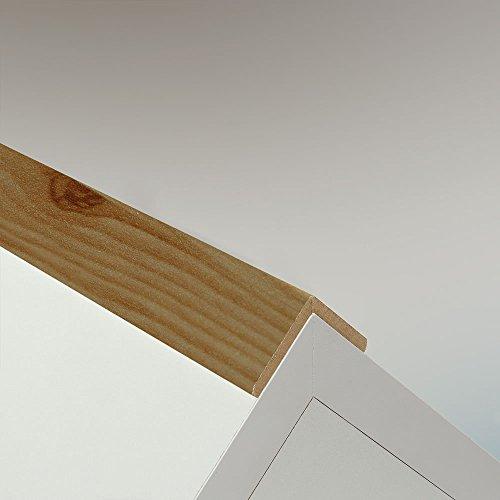 Winkelleiste Schutzwinkel Winkelprofil Tapeten-Eckleiste Abschlussleiste Abdeckleiste aus MDF in Kiefer Nordic 2600 x 32 x 32 mm
