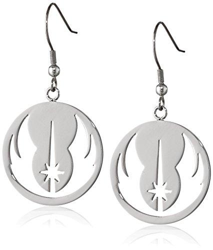 Pendientes colgantes de acero inoxidable de la orden de Jedi de Star Wars Jewelry (SALES1SWMD)