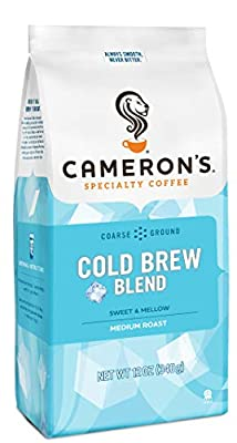 Cameron's Coffee Roasted Ground Coffee Bag, Cold Brew Blend, 12 Ounce