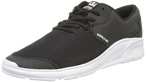Supra Herren Noiz Sneaker, Schwarz (Black-White), 42.5 EU