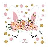 qingci PVC Mini Punkte Kaninchen Wandaufkleber Kreative Baby Kinderzimmer Wandtattoo Treppenhaus Schrank Graffiti Tapeten