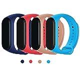 Maspen Compatible pour Xiaomi Mi Band 3 Bracelet,Bracelet de Sport en Remplacement Silicone Sport...