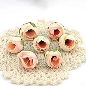 Silk Flower Arrangements 10pcs Cheap Mini Real Touch Silk Artificial Rose Flower Head Camellia Buds Wedding Home Decoration Wreaths Craft Fake Flowers