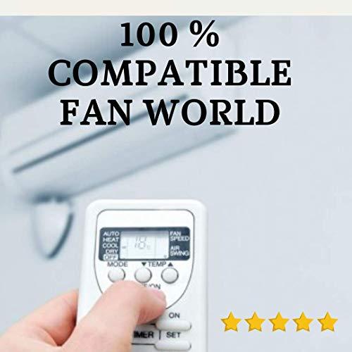 Fan World - Mando Aire Acondicionado FANWORLD - Mando a Distancia Compatible...
