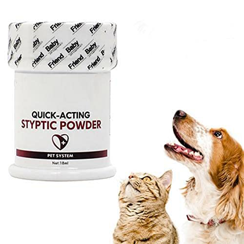 Pet Stop - Polvo estíptico para perros, gatos, pájaros, hemostasia rápida en polvo para lesiones fracturas antibacterianas antiinflamatorias, traumáticas, 26 g