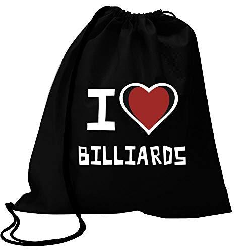 Idakoos I Love Billiards Bicolor Heart Sport Bag