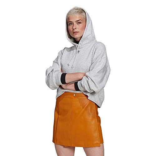 adidas Originals Hoodie Hooded Sweat, Light Grey Heather, 34 Female-Adult