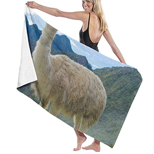 xcvgcxcvasda Serviette de Bain, Bathroom Towels Wild Lama