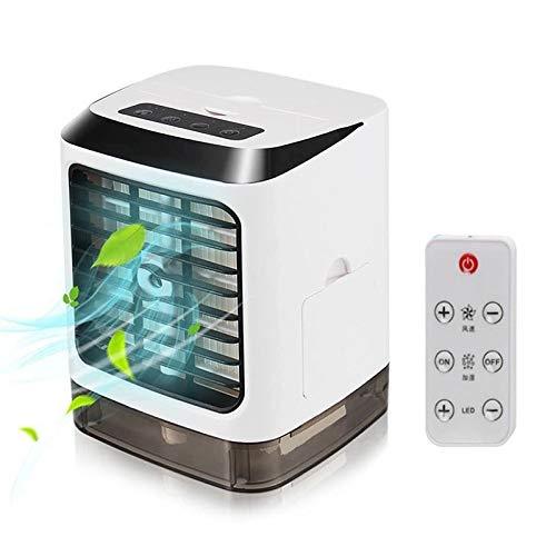 GANK WWZS AYS Mini Ventilador de refrigeración del Ventilador humidificador de Aire Acondicionado hidratante Spray Ventilador con Control de Escritorio Remoto (Blanco) (Color : White)