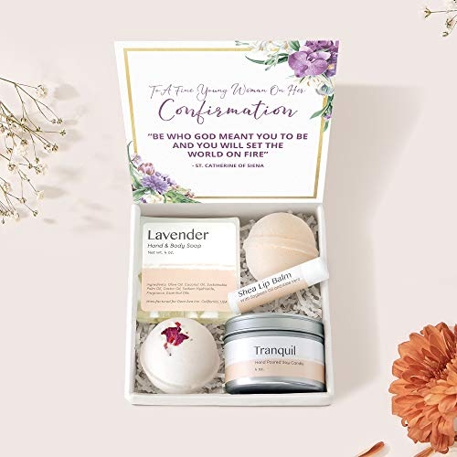 Confirmation Gift Box Set - Heartfelt Card & Spa Gift for Teenage Girls
