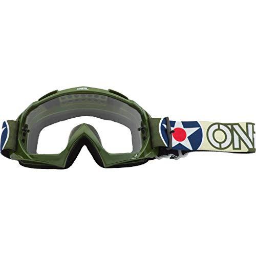 O'NEAL B10 Warhawk Goggle MX DH Brille grün/Sandfarben/klar Oneal