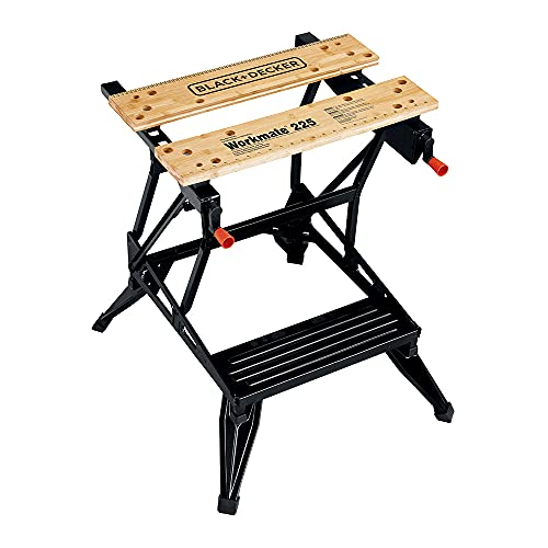 BLACK+DECKER Portable Work Bench and Vise (WM225-A)