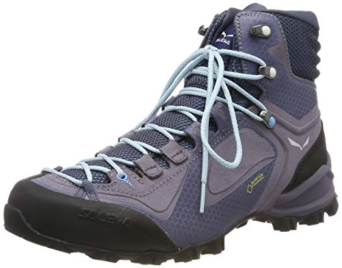 Salewa Alpenviolet Mid GTX Hiking Boot - Women's Grisaille/Ethernal Blue 7.5