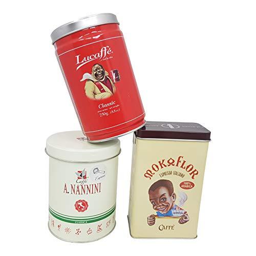 Espresso Probierset, la piccola in macinato, 3 x 250g gemahlen