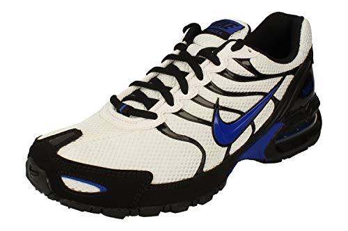 Nike Mens Air max Torch 4 Running Shoes (White/Hyper Blue-Black, Numeric_7_Point_5)