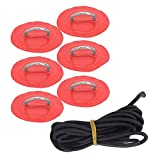 Tuimiyisou Almohadilla Inflable del Anillo D, D-Ring Pad Bungee Cable Set Inflable Boat D-Ring Patch Marine Fijo Hebilla para por Barco Inflable