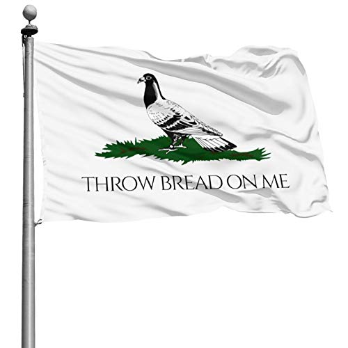Voglawear Throw Bread On Me Banner Flags for Garden, Home Flag, Outdoor Banner, USA Flag, 4x6ft