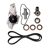 Timing Belt Kit with Water Pump - Compatible with 2003-2017 Honda Accord, Pilot, Odyssey, Ridgeline, Acura MDX, RDX, RL TL, TSX, ZDX - Replace # TCKWP329 TKH-002 TKH002 - Timing Belt Water Pump Kit