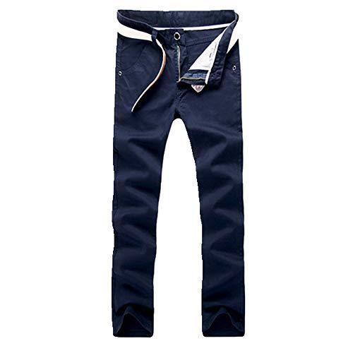 Primavera Estate Casual Usura Pantaloni Uomini Cotone Slim Fit Pantaloni Chinos Maschile Abbigliamento Plus Size 9 Colore 2 38W lungo