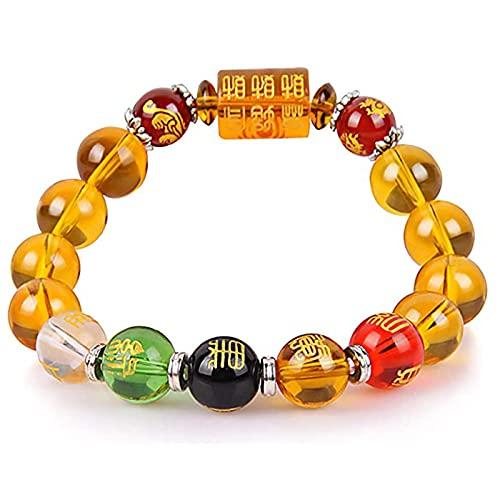 Bracelets Feng Shui pour Hommes Femmes Five Way Dieu de Richesse Bracelet Attirer la Richesse et Bonne Chance Bracelet d'amulette à Cinq éléments,Women's