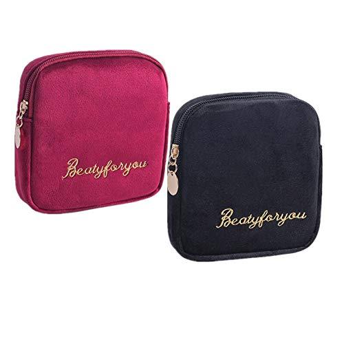 Fanny 2 Stücke Damenbinde Tasche Tampons Sammeln Taschen,Stillkissen, Slipeinlagen, Damenbinden und Makeup Pads (Mehrfarbig C)