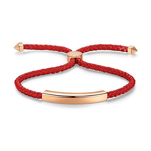 XIAOQIAO Pulseras de pareja hechas a mano, collares ajustables, pulseras para el día de San Valentín, regalos para mujeres, cumpleaños, Navidad, aniversario, pulsera de madre (color: rojo)