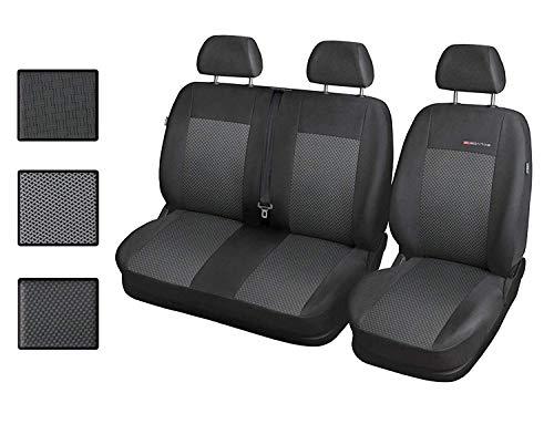Carpendo Sitzbezüge Auto 1+2 Transporter Autositzbezüge Schonbezüge Vorne mit Airbag System - Elegance P3