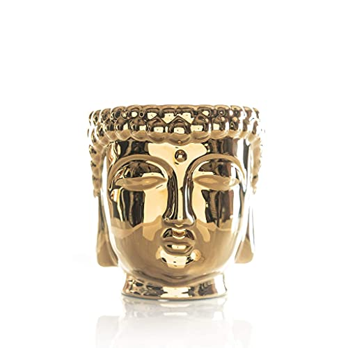 Thompson Ferrier – Buddha scented candle collection – Chai Vanilla fragrance Home Decor Candle - Gold - Hand sculpted and hand poured with the finest essential oils