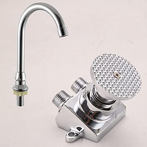 Grifo Copper Floor Mounted Foot Control Pedal Basin Faucet For Home Kitchen Hospital Medical LaboratoryE Brass Pedal Switch Tap