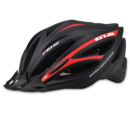 ZJJ Mountainbike-helm rijhelm voor dames en heren, eendelige kap, met helm Zwart-L