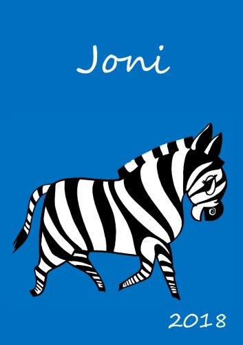 2018: personalisierter Zebra-Kalender 2018 - Joni - DIN A5 - eine Woche pro Doppelseite