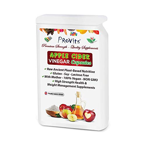 Organic Apple Cider Vinegar Capsules with The Mother 1200mgs Per Serving - Keto Advanced Diet Supplements 100% Vegan Raw High Strength Natural Appetite Suppressants Weight Loss Capsules, Probiotics