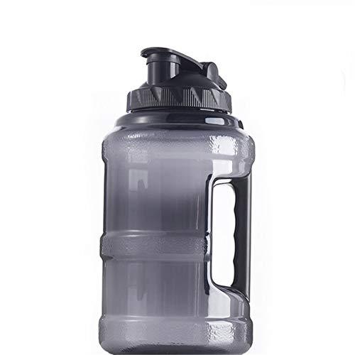 Botella Agua Deporte Botella De Agua 2.2 L Botella Agua Deporte Bidones De Plastico Botella Botella Agua Infantil Deporte Oficina Yoga Ciclismo Sport Black,2.5l