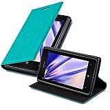 Cadorabo Custodia Libro per Nokia Lumia 925 in Turchese Petrolio - con Vani di Carte, Funzione Stand e Chiusura Magnetica - Portafoglio Cover Case Wallet Book Etui Protezione