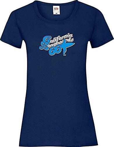 Lady-Shirt California Longboards 66, Farbe blau, Größe L