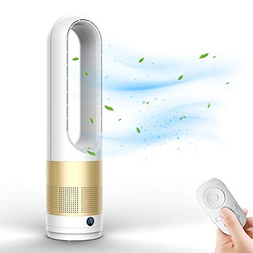 SYN-GUGAI Ventilador de Torre Ventilador silencioso Ventilador sin aspas, Iones Negativos de 25,6 Pulgadas Enfriador de Aire de Seguridad Ventilador sin Hojas, Ventilador de Torre con Control,A