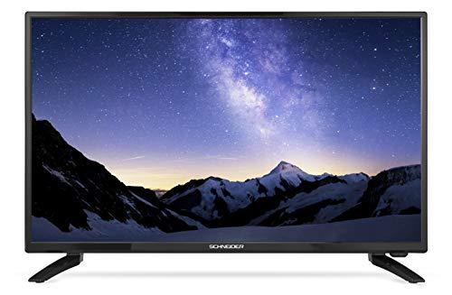 Schneider Consumer - Televisión LED 24' HD 220/12V, LED24-SCP100HC, HDMI, USB, Adaptador 12v Especial Coches y autocaravanas, Negra